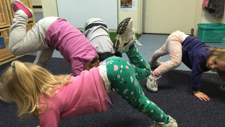 Yoga with the Kindy Children